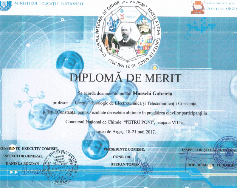 Diploma Petru Poni