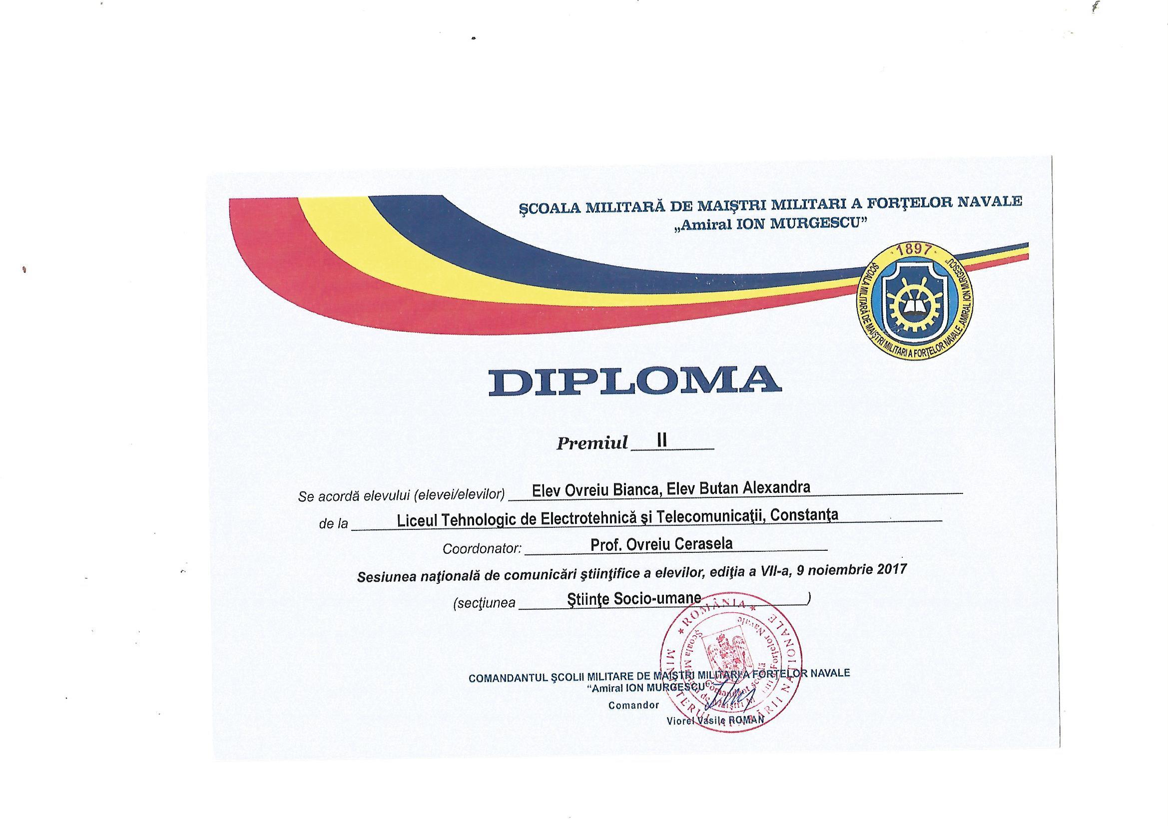 diploma sesiune de comunicari 2017-2018